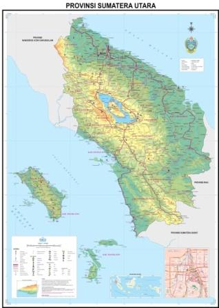 Peta wilayah Provinsi Sumatra Utara